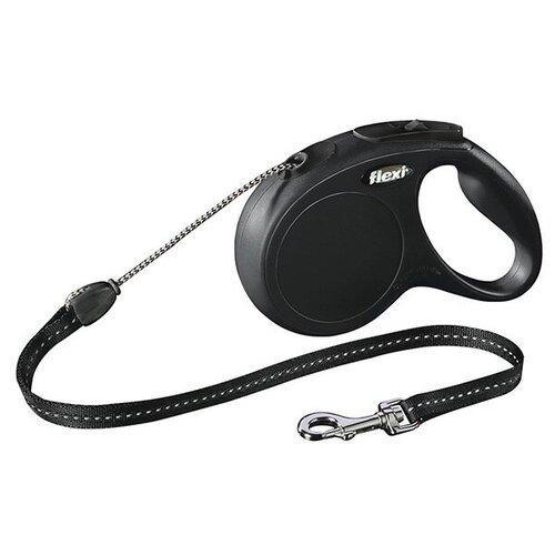 Поводок-рулетка Flexi New Classic XS черный