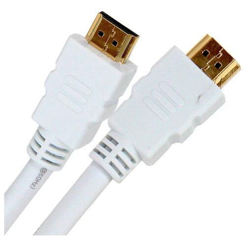 Фото - Кабель Aopen HDMI - HDMI (ACG711D) 5 м белый кабель hdmi aopen acg711d 7 5m круглый черный