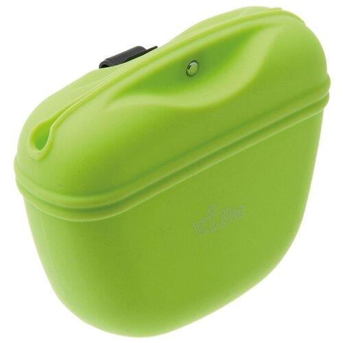 Сумка для корма V.I.Pet с магнитным замком салатовый салатовый цв 159