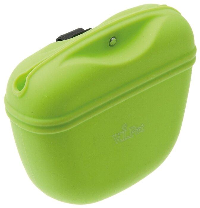 ZooOne. Сумочка для лакомств силиконовая с магнитным замком (салатовый)