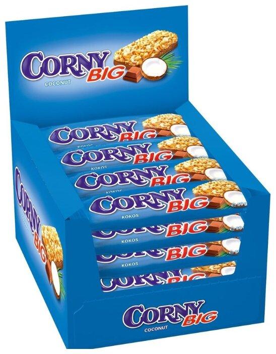 Злаковый батончик Corny Big Coconut с кокосом и шоколадом, 24 шт
