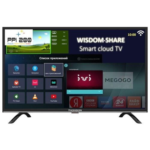 Телевизор Thomson T40FSL5130 40 (2019) черный/серебристый телевизор thomson t32rtl5140 черный