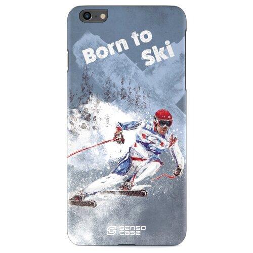 Чехол Sensocase 100044 + защитное стекло для Apple iPhone 6 Plus/iPhone 6S Plus лыжный спортЧехлы<br>
