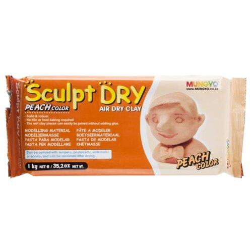 Купить Полимерная глина MUNGYO Sculpt Dry персиковая, 1 кг, Глина