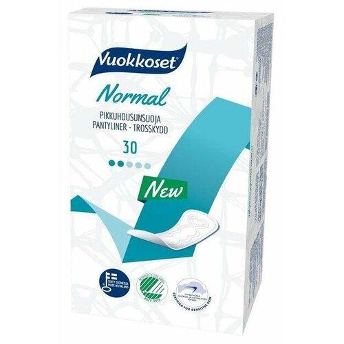 Купить Vuokkoset прокладки ежедневные Normal Pantyliner, 2 капли, 30 шт.