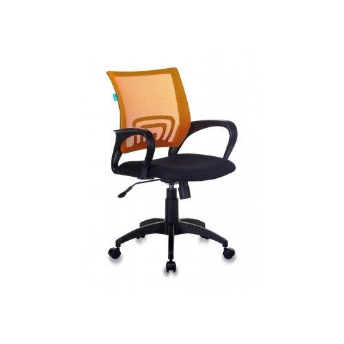 Компьютерное кресло Бюрократ CH-695N офисное, обивка: текстиль, цвет: оранжевый/черный