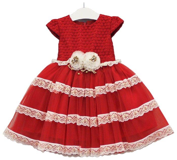 Платье Lilax размер 104, красный