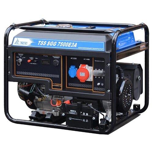 Фото - Бензиновый генератор ТСС SGG 7500Е3A (7500 Вт) бензиновый генератор тсс sgg 5000 eh 5000 вт