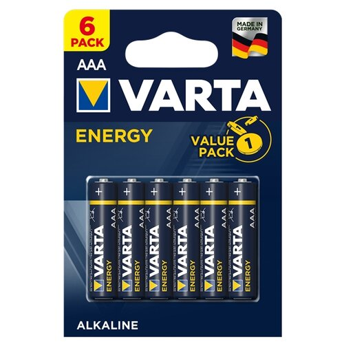 Фото - Батарейка VARTA ENERGY AAA 6 шт блистер батарейка varta energy aa блистер 2шт