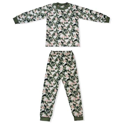 Купить Пижама LEO размер 116, хаки, Домашняя одежда