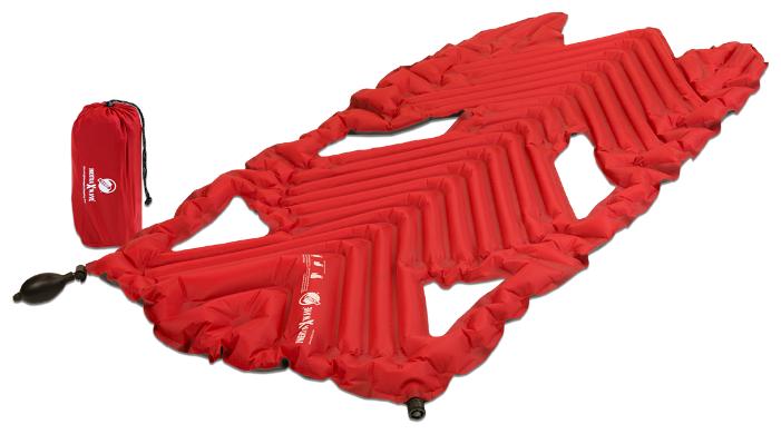 Надувной туристический коврик Klymit Inertia X Wave pad - Красный (06XWRd01A)