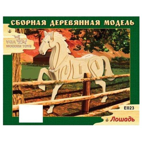 Сборная модель Wooden Toys Лошадь E023 конструкторы wooden toys сборная модель ангельская рыбка