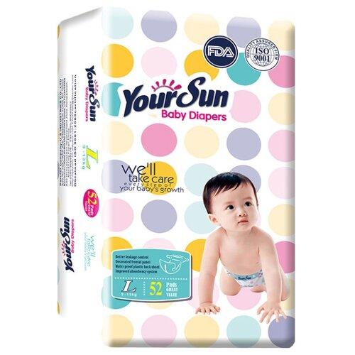 YourSun подгузники L (9-13 кг) 52 шт. фото