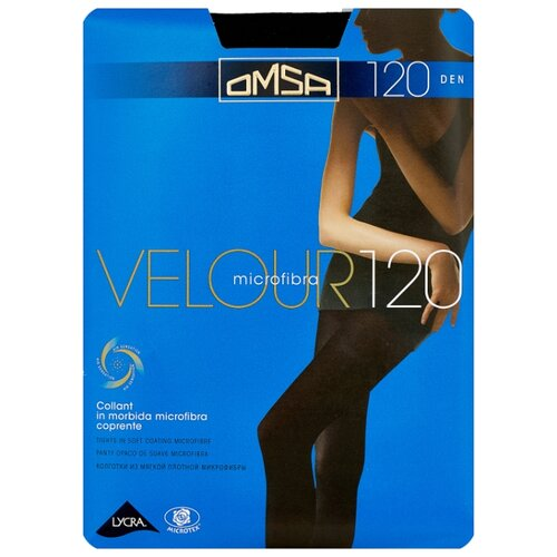 Колготки Omsa Velour 120 den, размер 4-L, nero (черный) колготки glamour velour 3 120 den черный