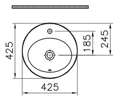 Раковина 42.5 см VitrA S20 5466