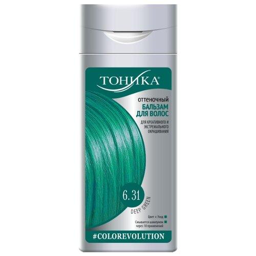 Тоника Colorevolution Оттеночный бальзам для волос 6.31 Deep Green неоновый зеленый, 150 мл рыжие оттенки тоника для волос
