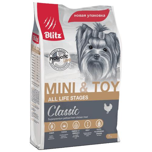 Корм для собак Blitz Adult Dog Mini & Toy Breeds dry (7 кг)Корма для собак<br>