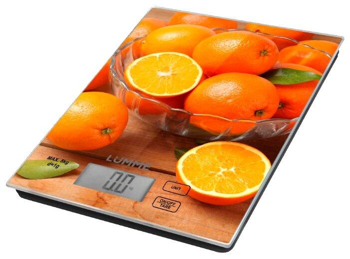 Кухонные весы Lumme LU-1342 апельсиновый фреш