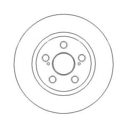 Комплект тормозных дисков задний Textar 92164103 259x9 для Toyota Corolla, Toyota Auris, Toyota Rukus (2 шт.)