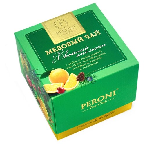 Чай черный Peroni Медовый Хвойный апельсин, 45 г