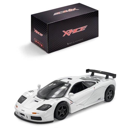 Купить Детская инерционная металлическая машинка Serinity Toys, с открывающимися дверями, модель McLaren GTR, со светом и звуком, белый, Машинки и техника