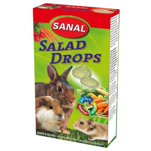 Лакомство для кроликов, грызунов SANAL Salad Drops с овощами и витаминами A, C, D, E 45 г