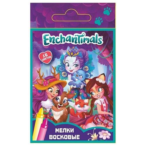 Купить CENTRUM Мелки восковые Enchantimals 16 цветов (89218), Пастель и мелки
