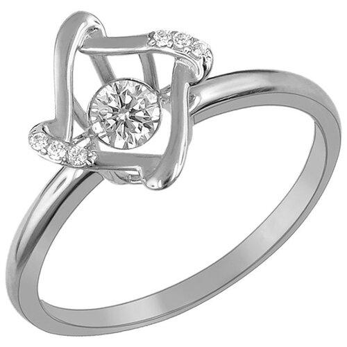Эстет Кольцо с 7 фианитами из белого золота 01К1211853, размер 18 эстет кольцо с 19 фианитами из белого золота 01к2210883 1 размер 18