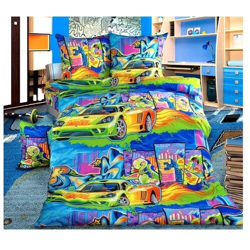 Постельное белье 1.5-спальное Бамбино Граффити бязьКомплекты<br>