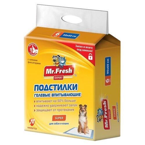 Пеленки для собак впитывающие Mr. Fresh Expert Super F509 90х60 см 6 шт..