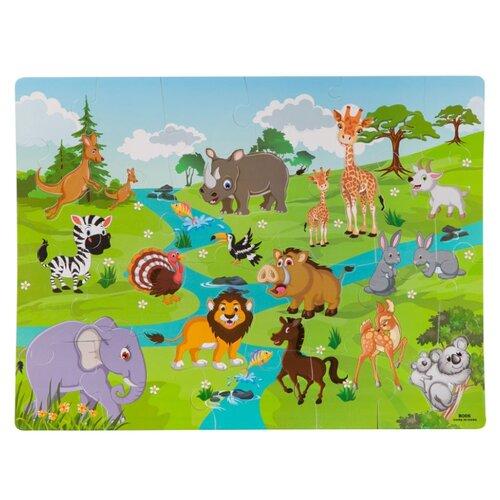 Фото - Коврик-пазл BONDIBON Baby You Дикие животные (ВВ2822) bondibon мозаика динозавры и дикие животные baby you вв3744