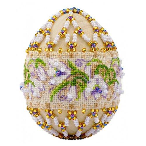 Риолис Набор для вышивания бисером Яйцо пасхальное Подснежники 6.5 х 5 (В212)
