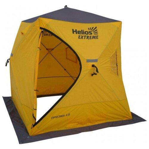 Палатка HELIOS Extreme Призма желтый/серый helios hs 630 042540
