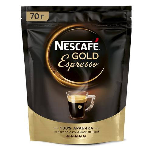 Кофе растворимый Nescafe Gold Espresso с пенкой, пакет, 70 г nescafe classic crema кофе растворимый 70 г пакет