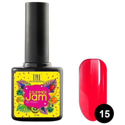 Гель-лак для ногтей TNL Professional Summer Jam, 10 мл, оттенок 15 неоновый темно-коралловый