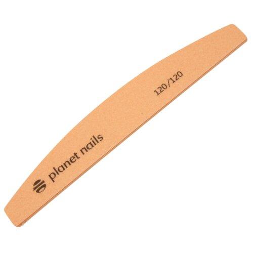 Planet nails пилка для ногтей широкая полукруглая Mylar 120/120 грит персиковый ножницы для маникюра planet nails planet nails pl009lwcttp3