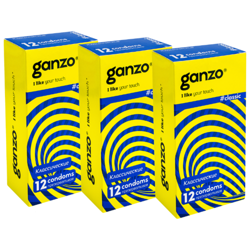 Презервативы Ganzo Classic (3 уп. по 12 шт.) презервативы ganzo juice 12 шт