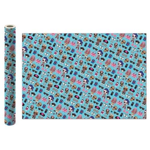 Бумага упаковочная ND Play L.O.L. 100х70 см, 2 шт бирюзовый