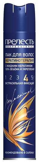 Прелесть Professional Лак для волос Кератинотерапия, экстрасильная
