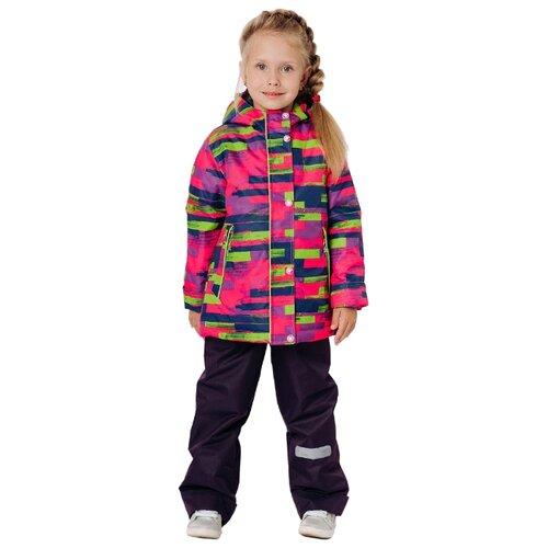 Комплект с брюками Ytro К336 полоска размер 28/110, малиновыйКомплекты верхней одежды<br>