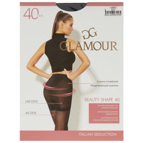 Колготки Glamour Beauty Shape 40 den, размер 5-XL, nero (черный) колготки glamour betulla 20 den размер 5 xl nero черный