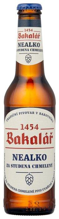 Светлое пиво Bakalar холодного охмеления безалкогольное 0.33 л