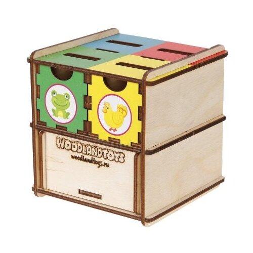 Сортер Woodland Комодик куб Животные 119107 сортер red box активный куб