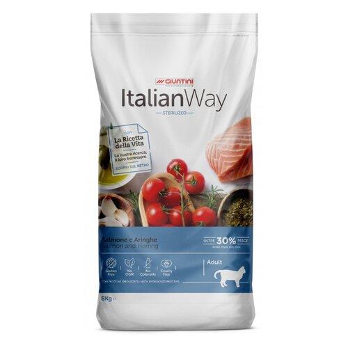Сухой корм для стерилизованных кошек Italian Way с лососем, с сельдью 8 кг