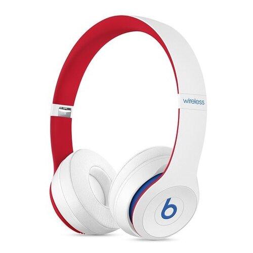 Беспроводные наушники Beats Solo3 Wireless белый/красный беспроводные наушники beats solo3 wireless атласное серебро