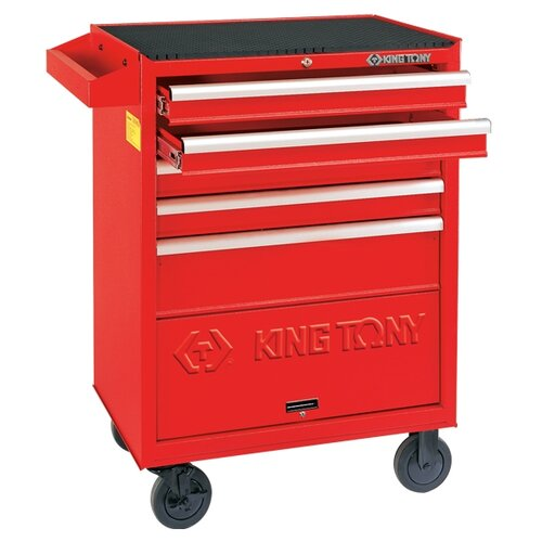 Тележка KING TONY 87432-5B ящики: 5 шт. красный тележка matrix 906605 ящики 10 шт серый