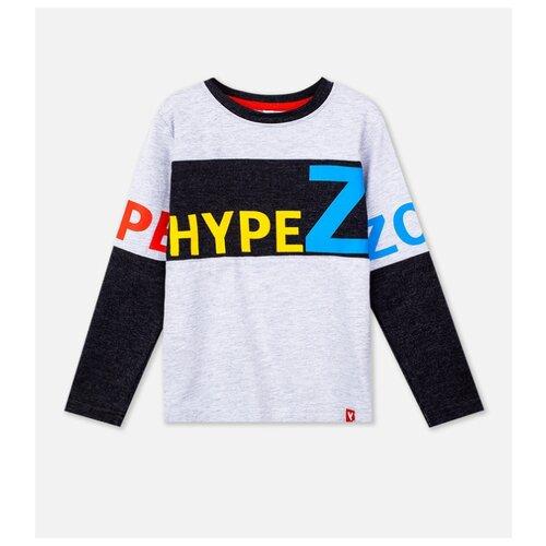 Лонгслив playToday, размер 98, темно-серый/серый/красный