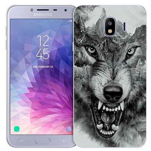Чехол Gosso 719336 для Samsung Galaxy J4 (2018) волк в горахЧехлы<br>
