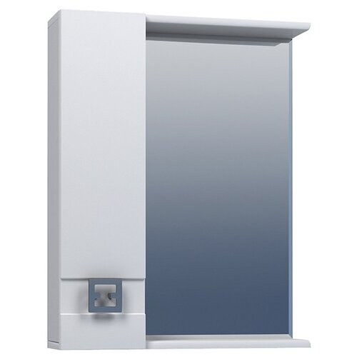 Шкаф для ванной Mixline Квадро-55/65/75 левый, (ШхГхВ): 55х15х70 см, белый