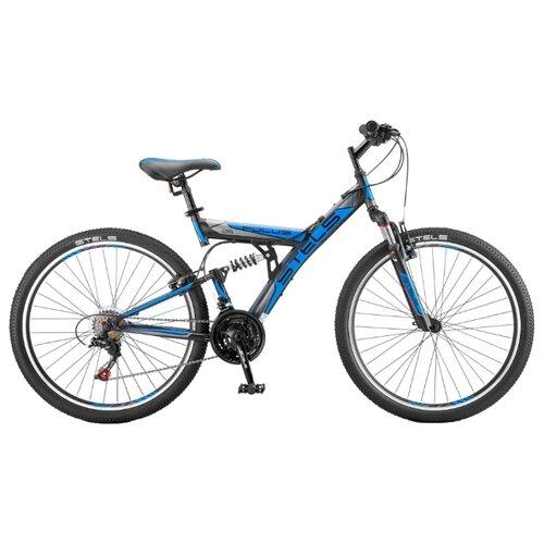 Горный (MTB) велосипед STELS Focus V 26 18-sp V030 (2018) черный/синий 18 (требует финальной сборки) велосипед stels focus v 18 sp 2017